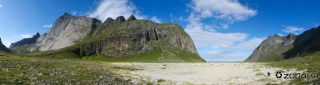 Panoramski pogled na dolino Horseid