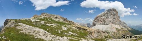 Panoramski razled iz Col dei Bos proti Tofani