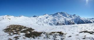 Pogled iz vrha krožničkov(L'homme de Pierre 2361m)