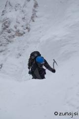 Plezanje navzdol zadnjih 10m