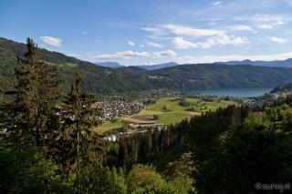 Pogled iz plezališča Dobriach