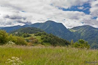 Pogled naza na Križno goro