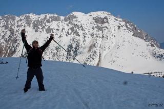 Kozjekovo veselje ob osvojitvi vrha