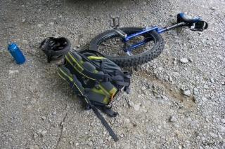 Ko je Vidmar opazil tale monocikel, so se mu oči kar zasvetlile:)