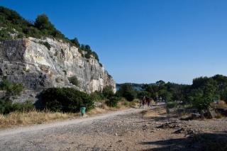 Plezalne stene na koncu rta v Rovinju