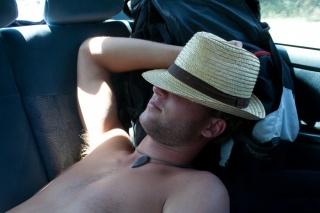 Na poti domov je Vidmar tkole počival na zadnjih sedežih