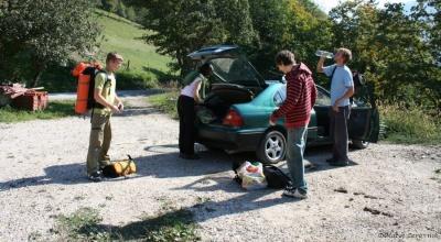 Po dolgem iskanju smo le našli parkirišče