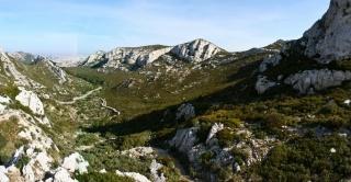 Pogled iz sedla proti Marseillu