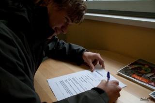 Podpisovanje izjave