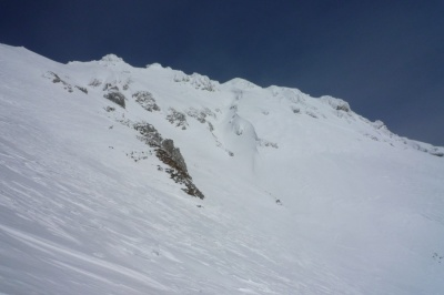 Pogled proti vrhu vrtače