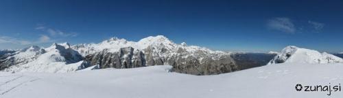 Panoramski razgled iz Mrežc