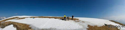 Panoramski posnetek vrha Golice