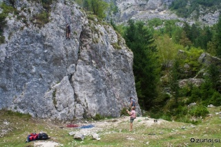 Plezališče v Trenti