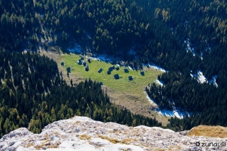 Planina v Lazu iz Debelega Vrha
