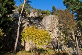 Pogled na plezališče iz ceste