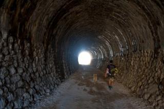 V tunelu stare železnice Ljubljana - Trst