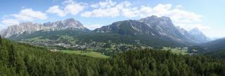 Pogled na Cortino in okolico