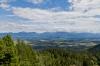 Pogled proti Ratečam in hribom