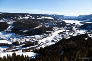 Pogled na Fagernes in dolino Valdres
