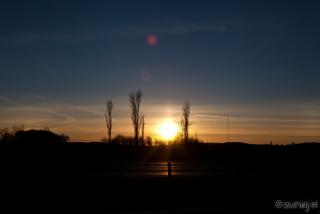 Sončni zahod na švedskem