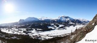 Panoramski razgled iz slapu