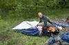 in pospravljanje šotorov