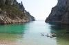 Pogled iz plaže En Vau
