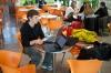 Jutranja kavica na letališču