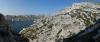 Razgled iz plezališča L'arche Perdue