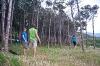 Slackline v gozdu