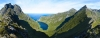 Panoramski pogled proti jezeru Stokkvika