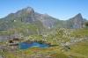 Koča Monkebu in vrh Hermannsdalstinden