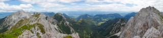 Pogled od Stola, preko Avstrije, do vrha Vrtače