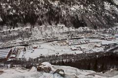 Del Rjukana vidnega iz slapu